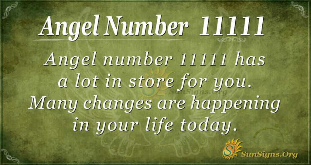 Angel number 11111