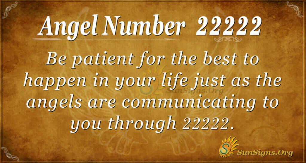 Angel number 22222