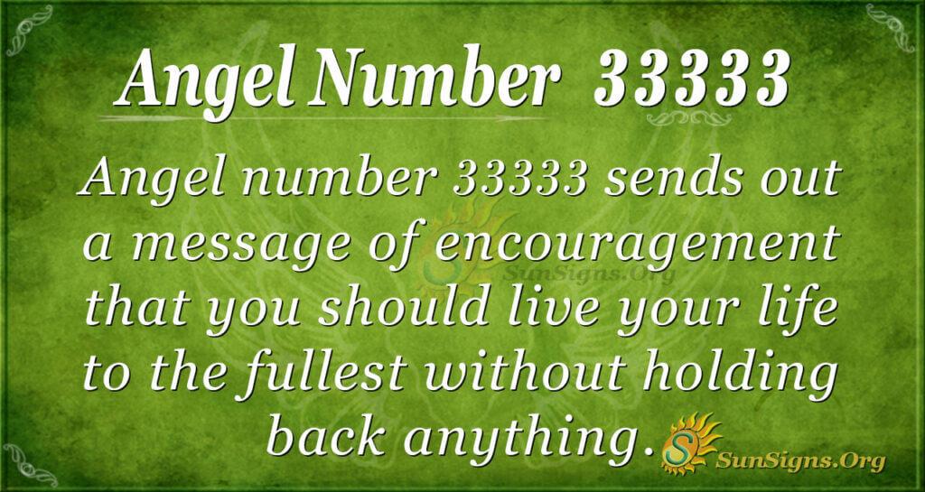 Angel number 33333