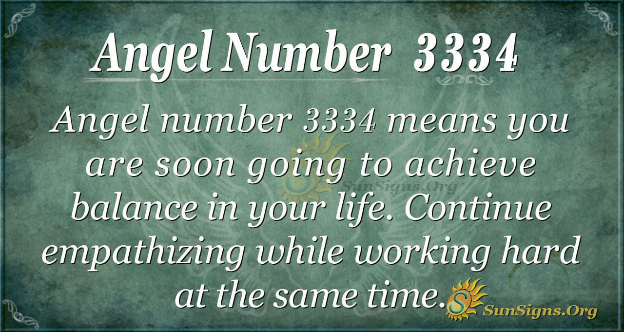 Angel Number 3334 Meaning  Enhancing Yourself