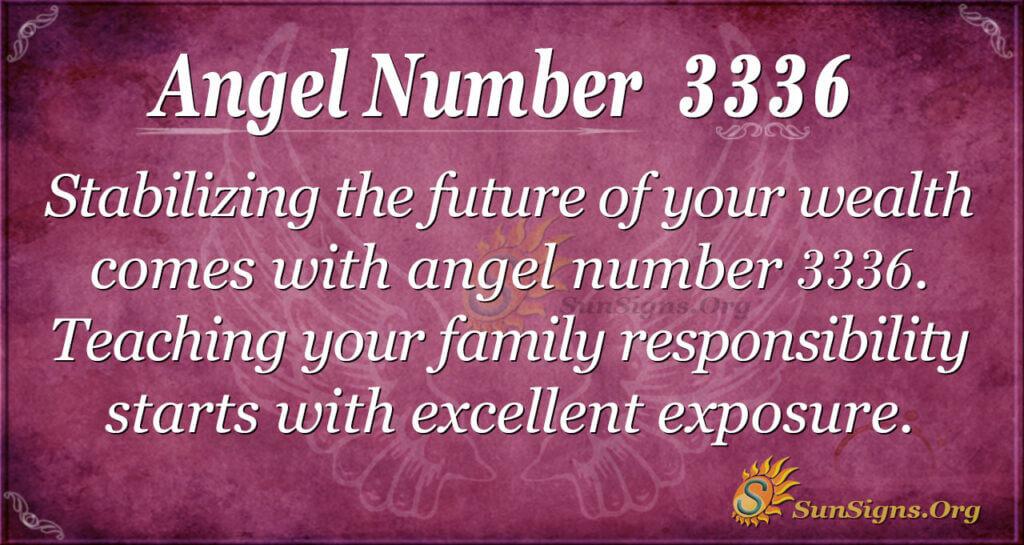 Angel number 3336