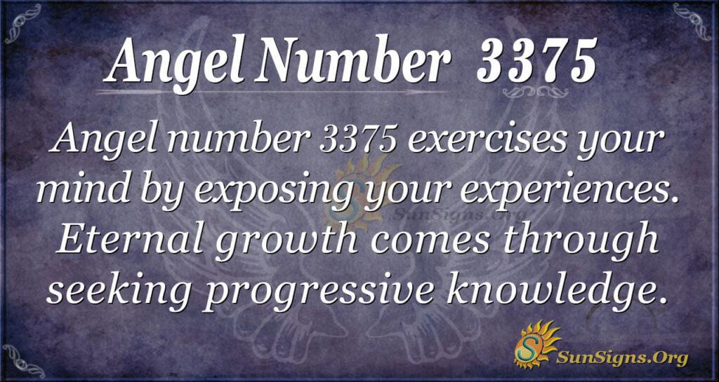 Angel number 3375