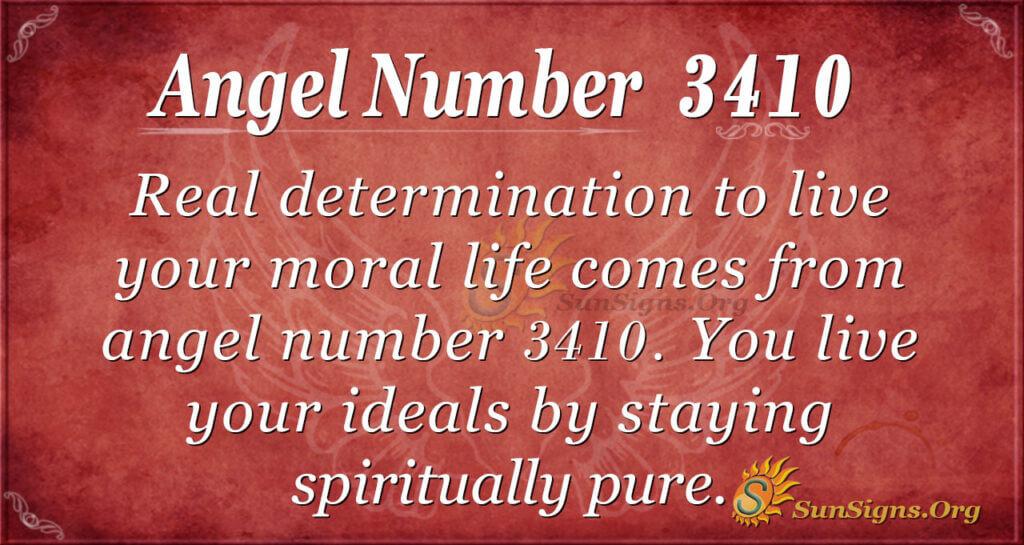 Angel number 3410