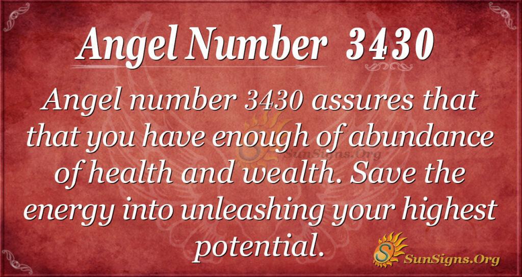 Angel number 3430