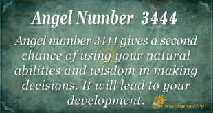 Angel number 3444