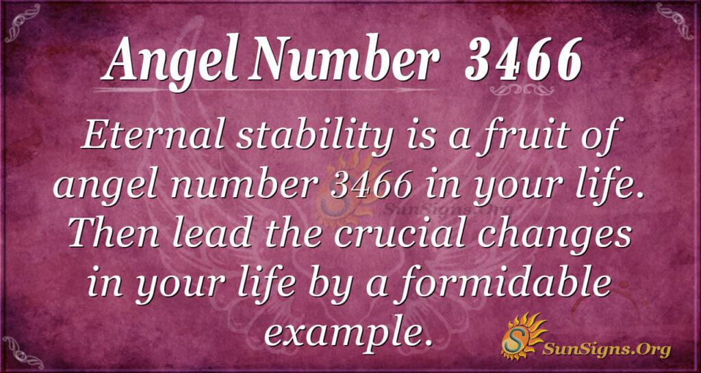 Angel number 3466