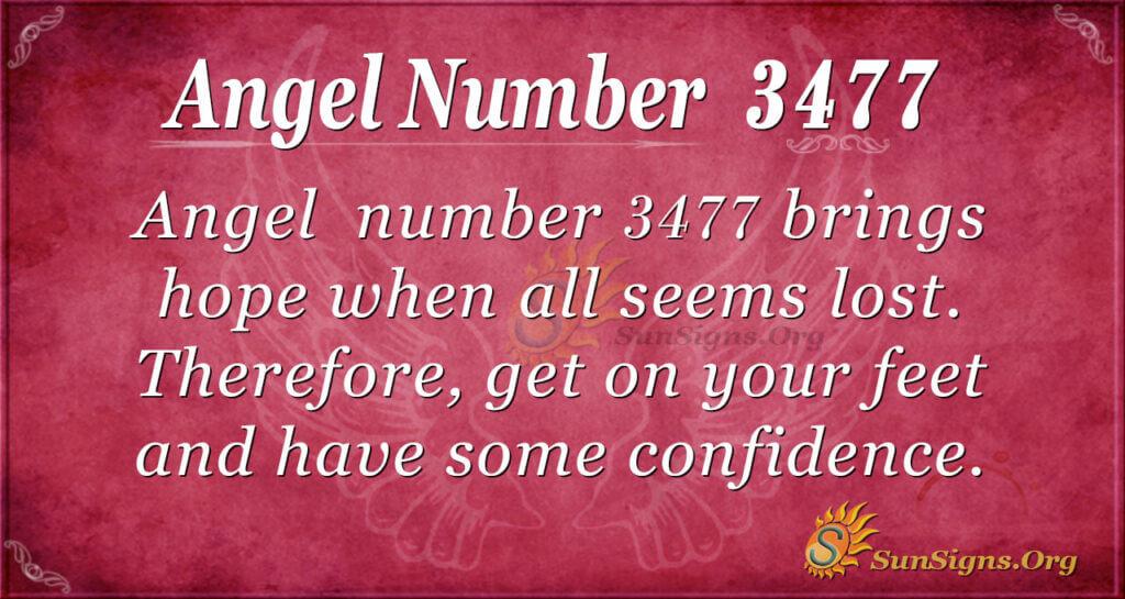 Angel number 3477