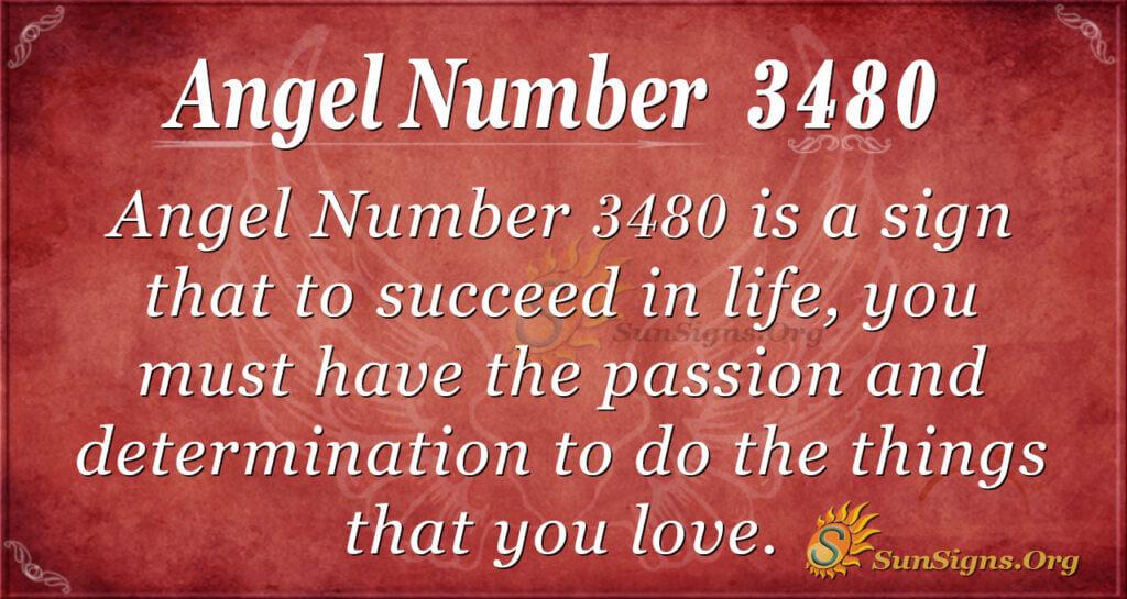 Angel number 3480