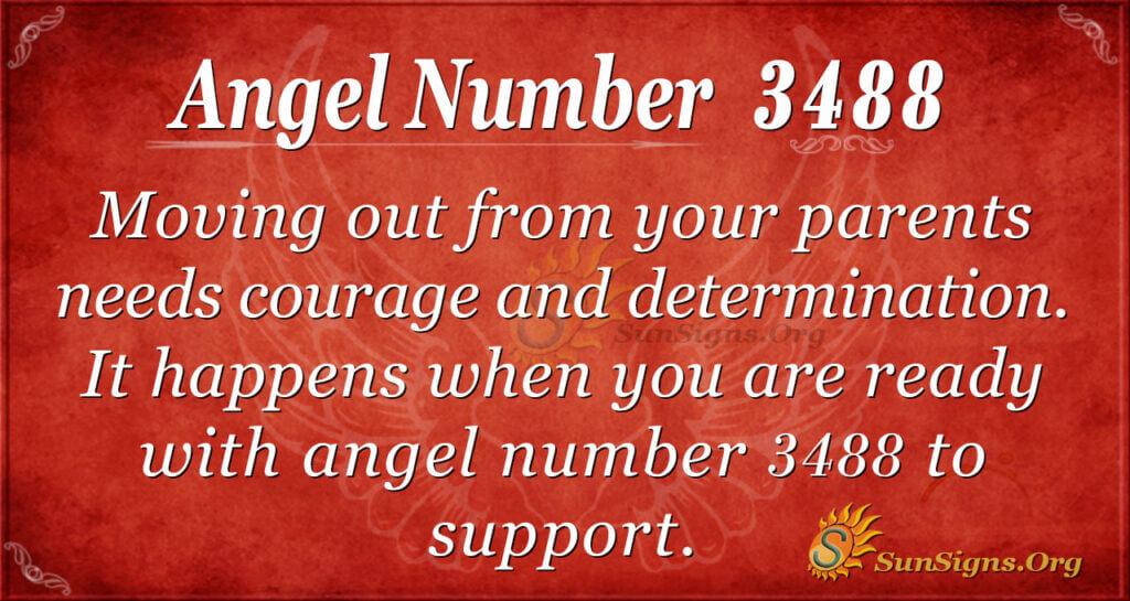 Angel number 3488