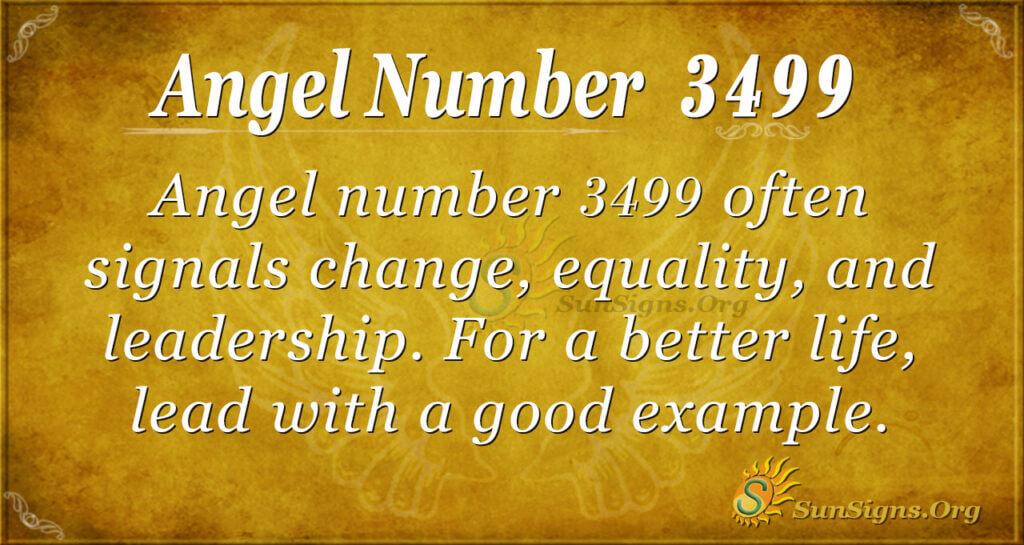 Angel number 3499