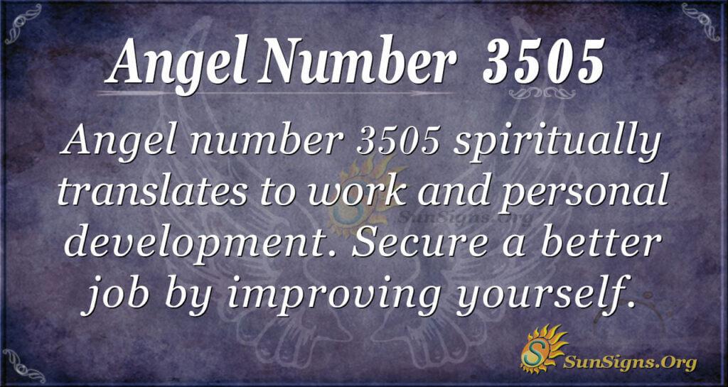Angel Number 3505
