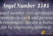 Angel Number 3505
