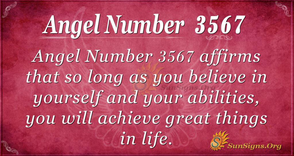 Angel number 3567