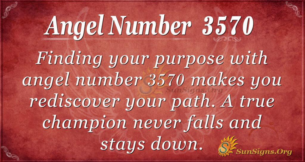 Angel number 3570
