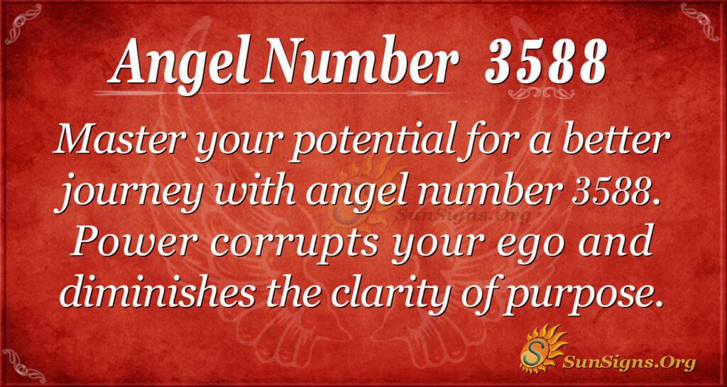 Angel number 3588