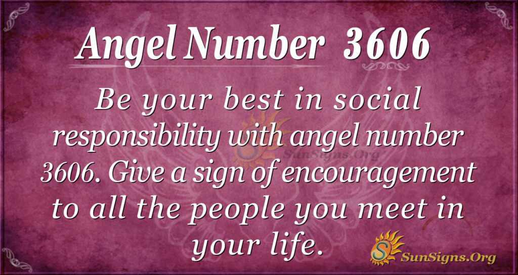 Angel number 3606
