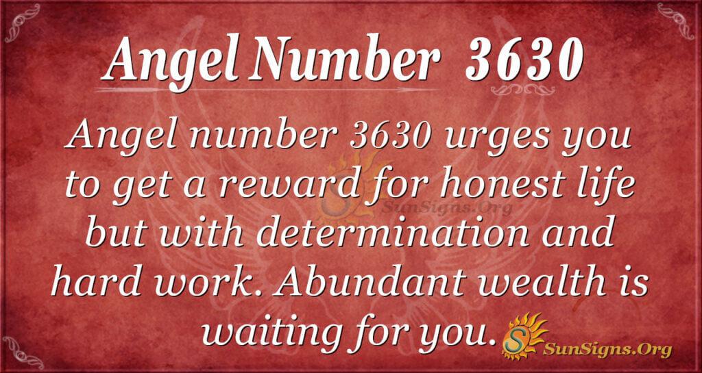 Angel Number 3630