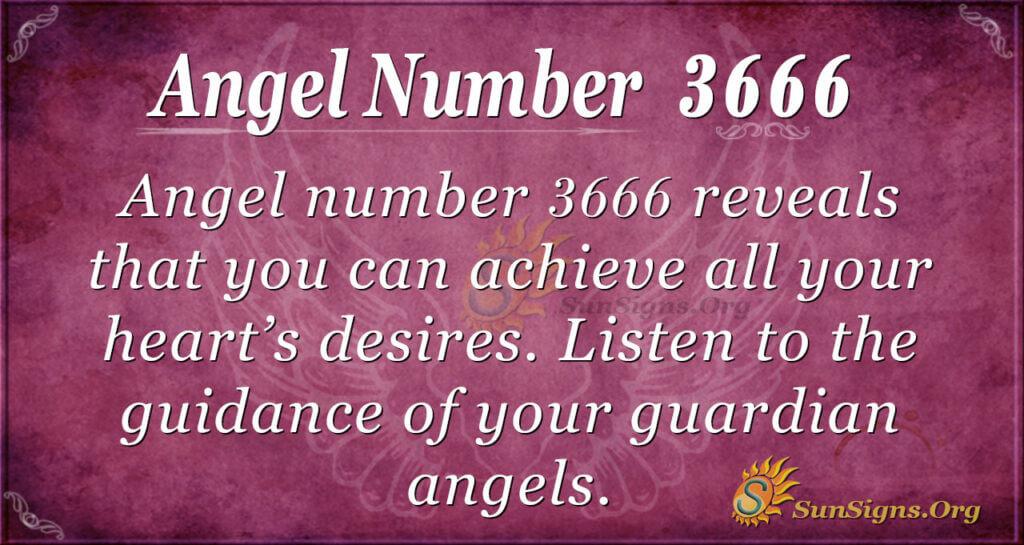 Angel number 3666