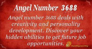 Angel number 3688