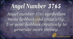 Angel number 3765