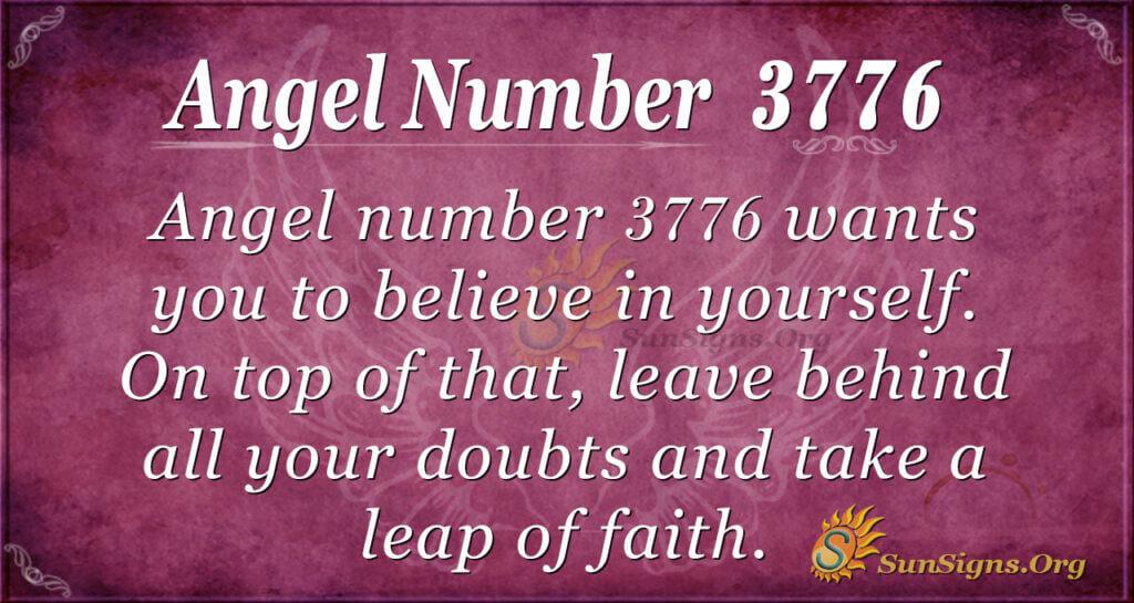 Angel number 3776