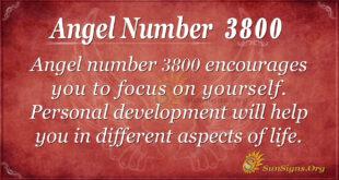 Angel Number 3800