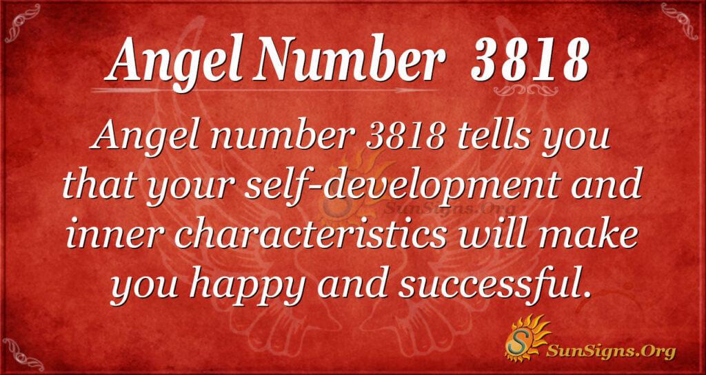 Angel number 3818