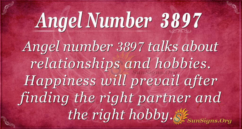 Angel number 3897