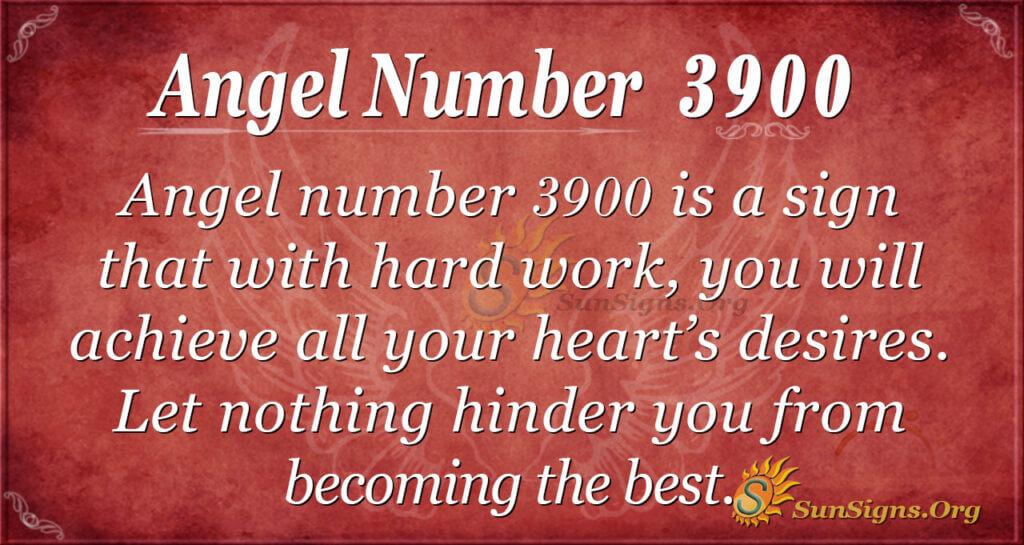 Angel number 3900