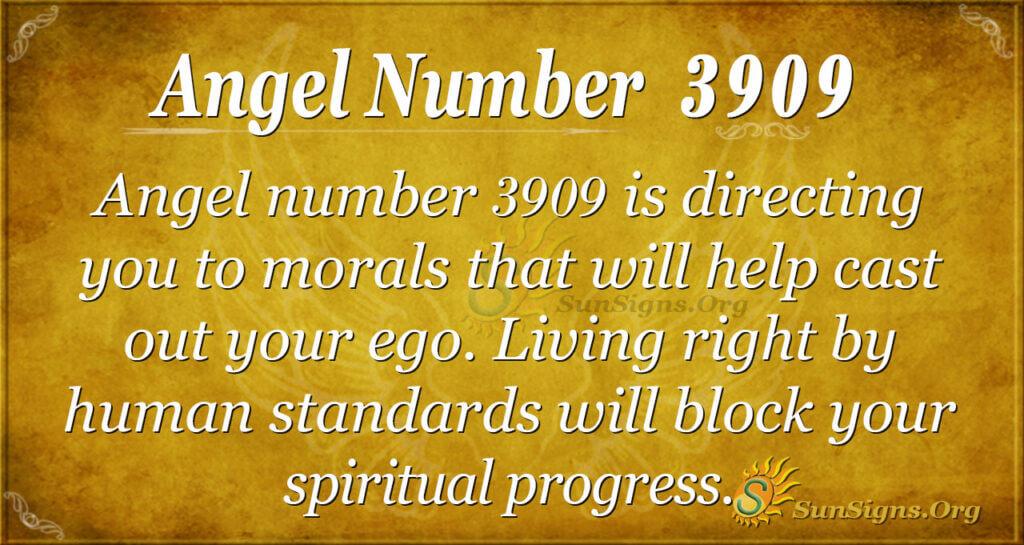 Angel number 3909