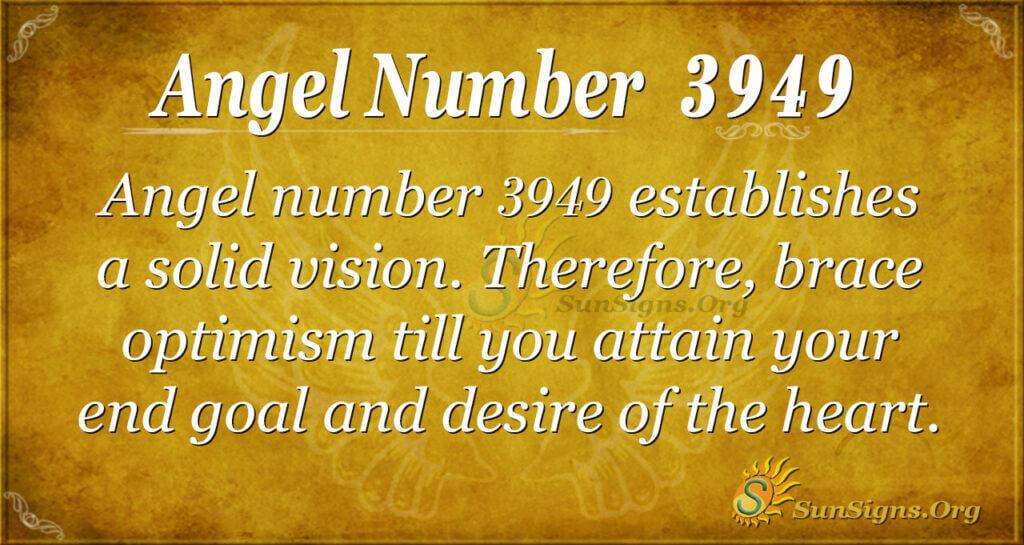 Angel number 3949