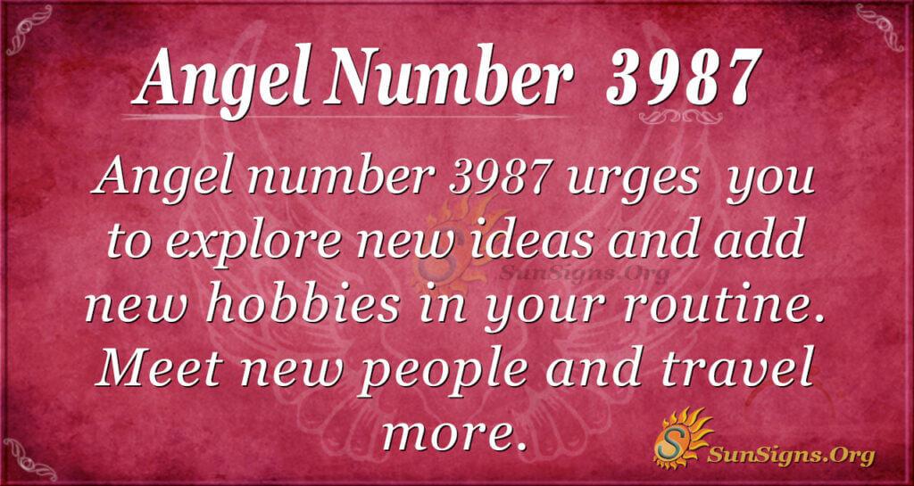 Angel number 3987