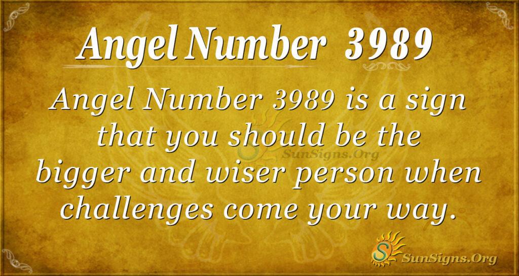 Angel number 3989