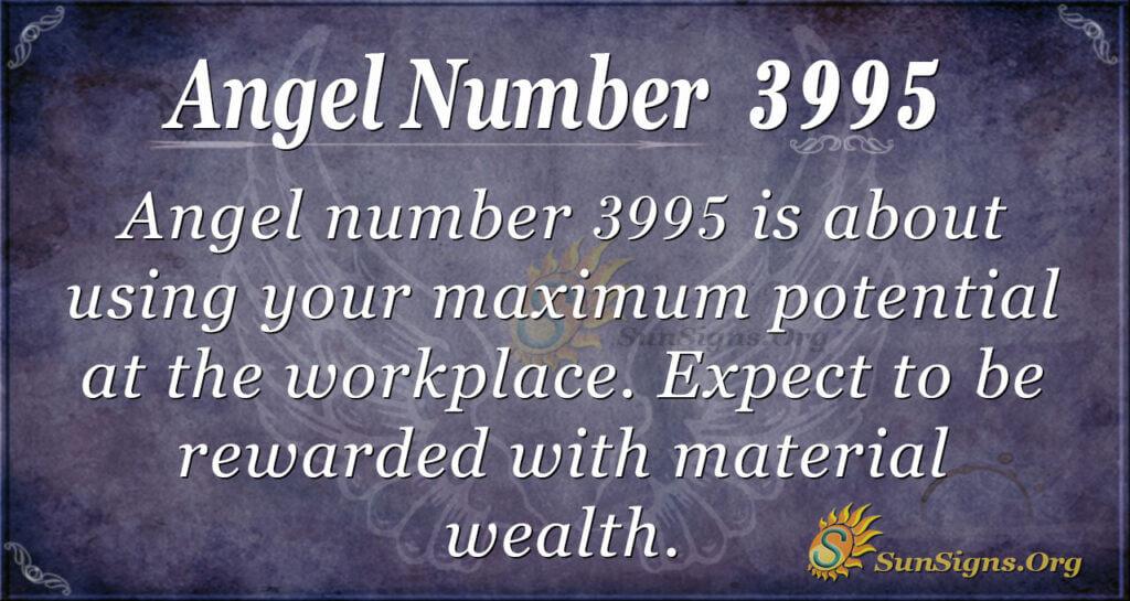Angel number 3995