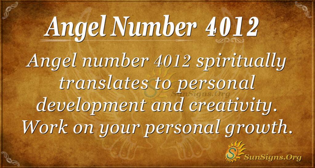 Angel number 4012