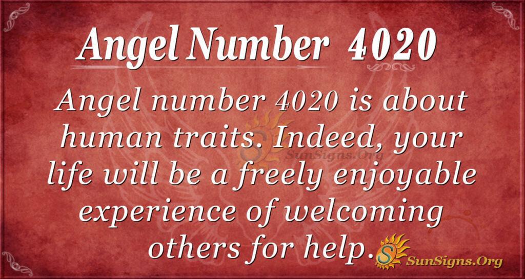 Angel number 4020