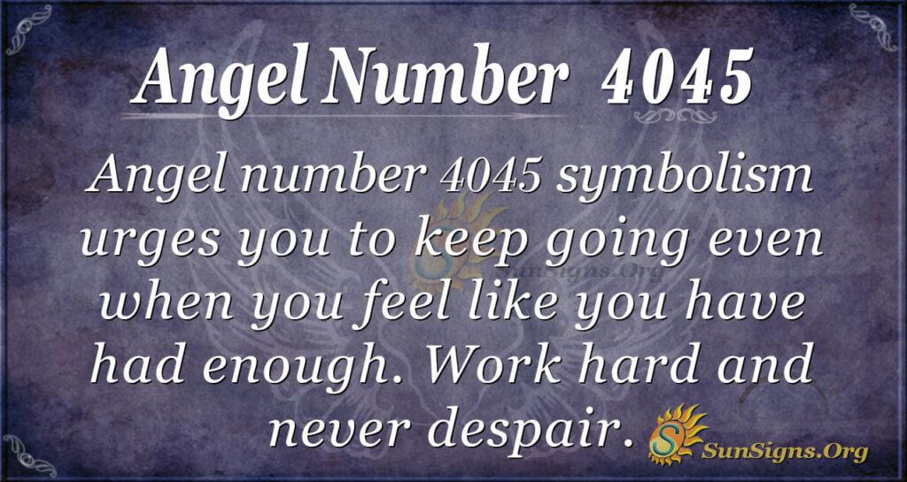 4045 angel number