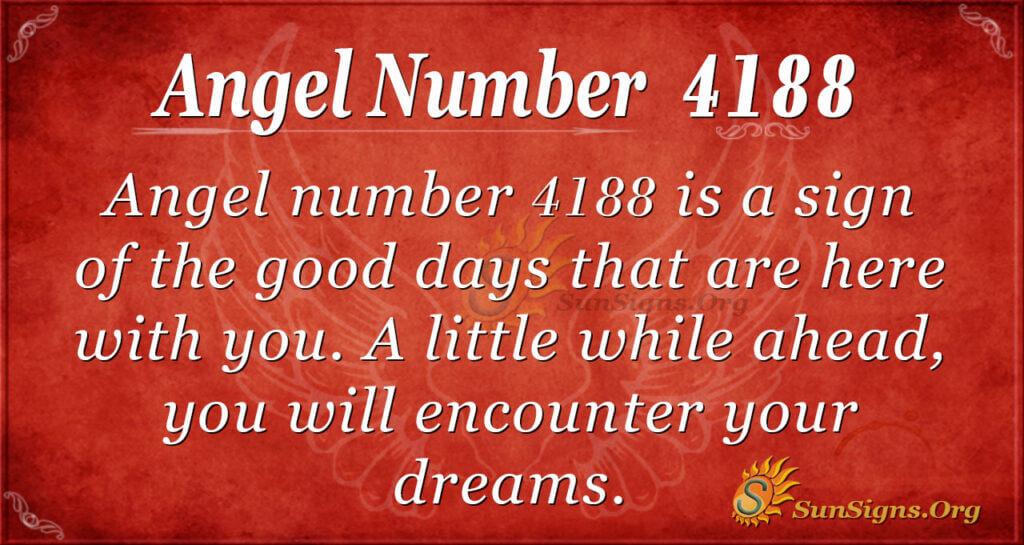 Angel number 4188