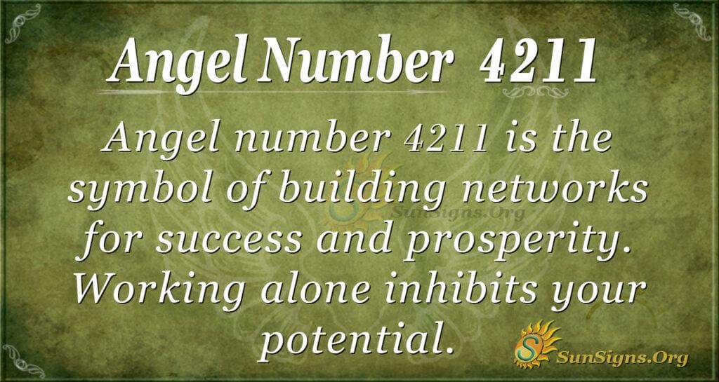 Angel number 4211