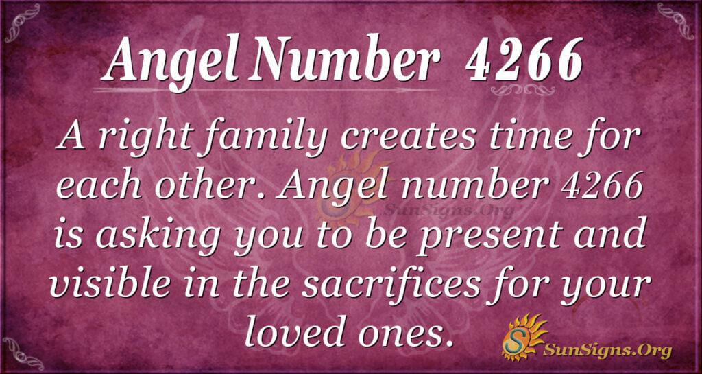 Angel number 4266