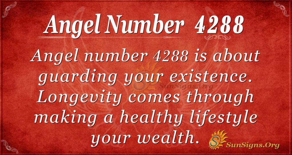 Angel number 4288