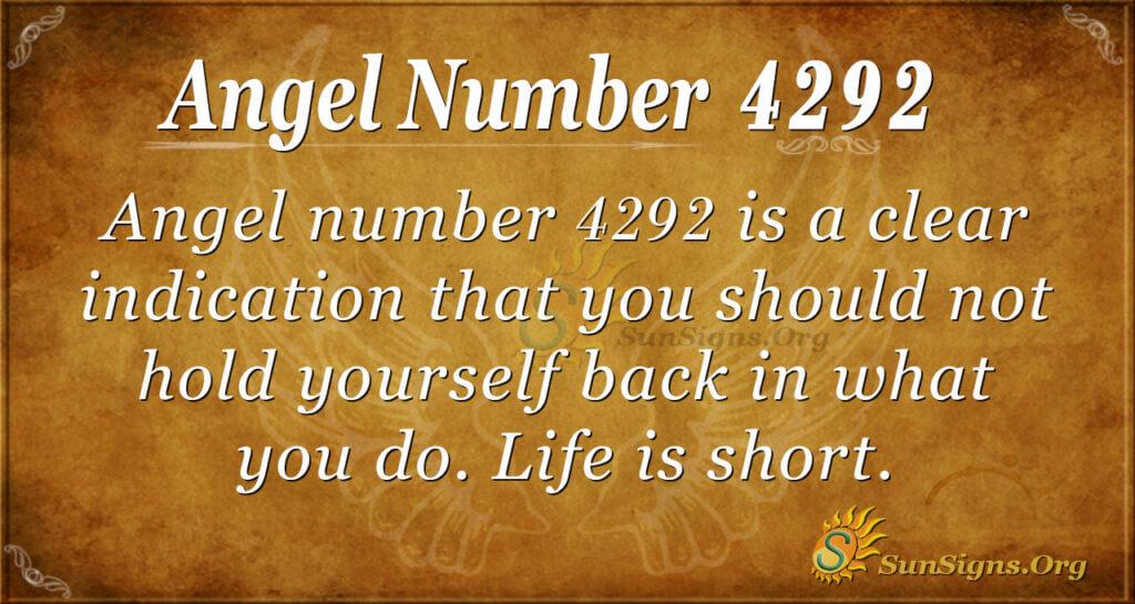 4292 angel number