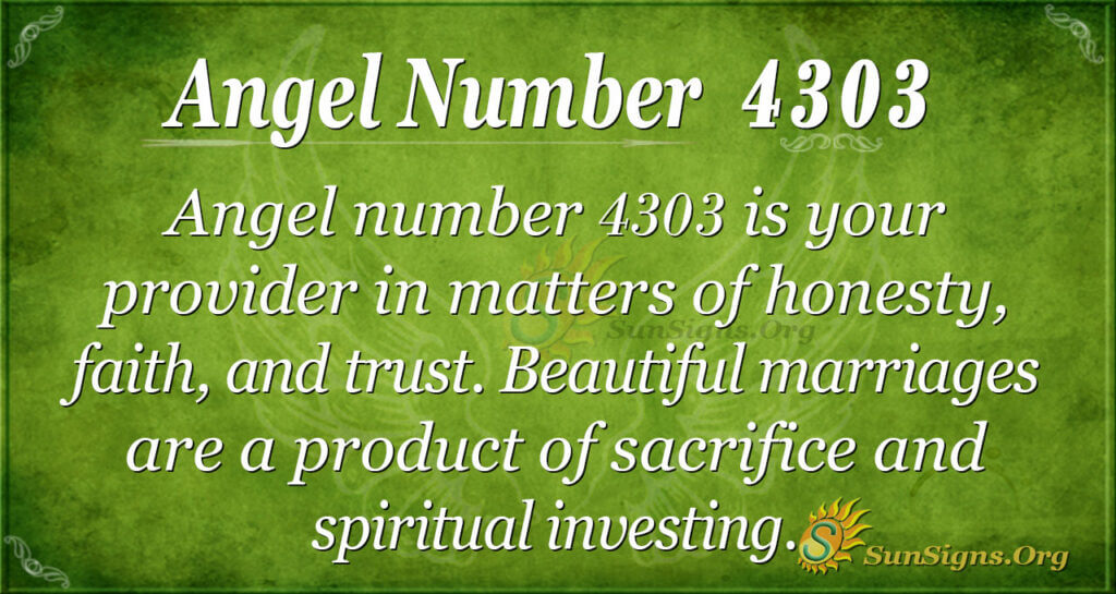 Angel number 4303