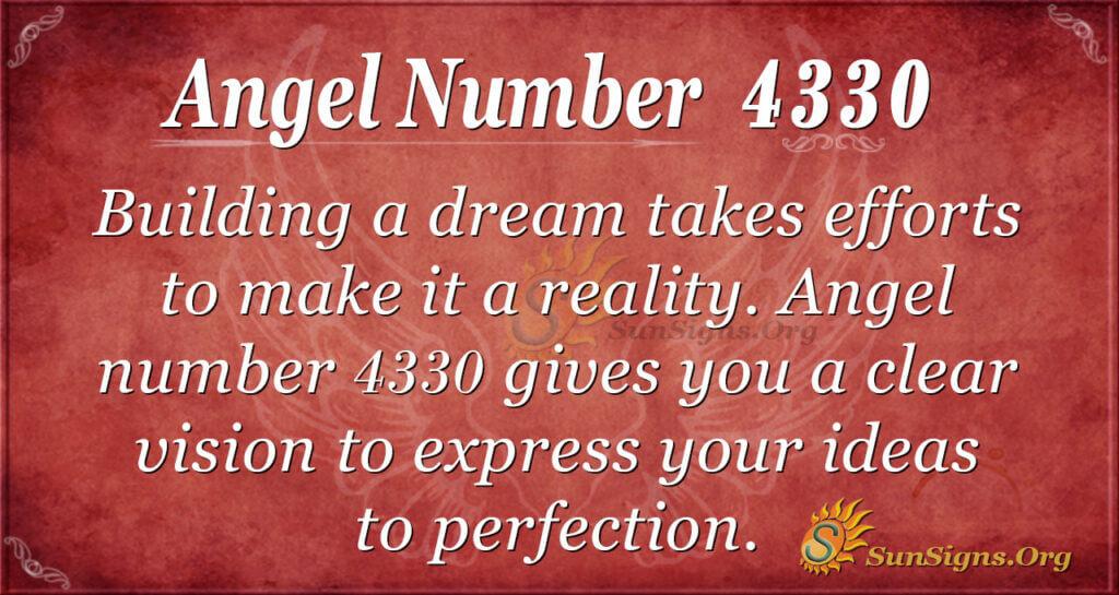 Angel number 4330