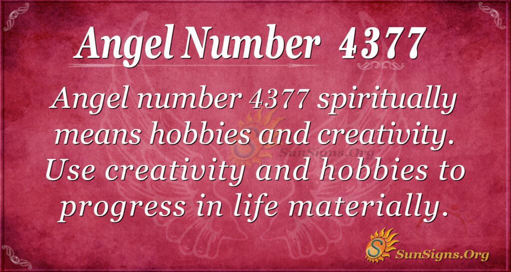 Angel number 4377