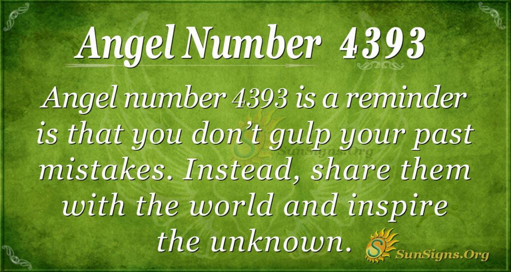 Angel number 4393