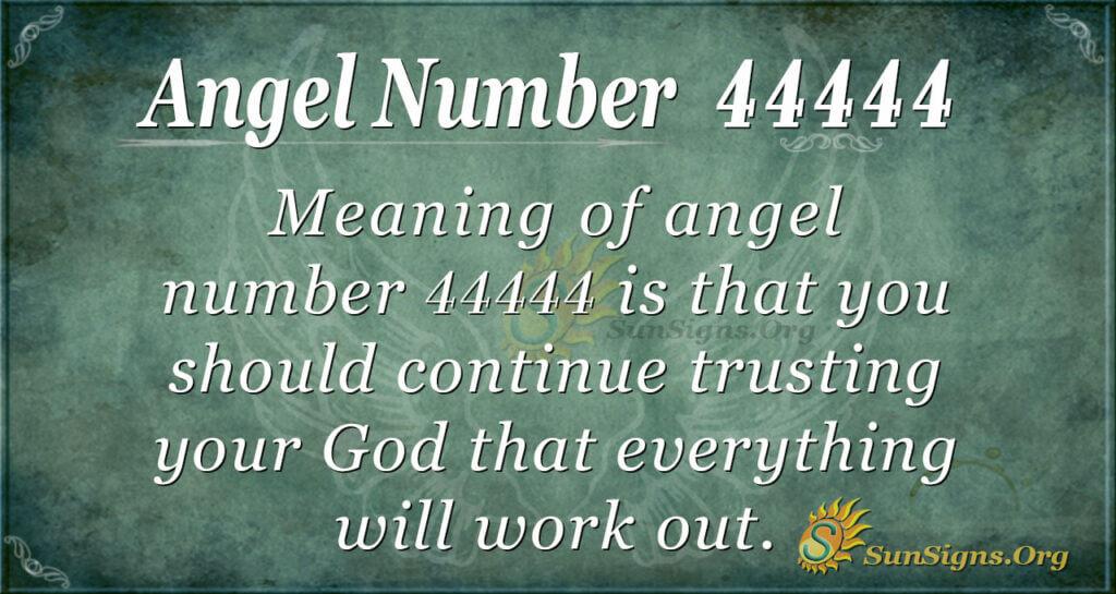 Angel number 44444
