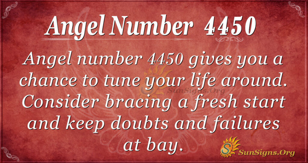 Angel number 4450