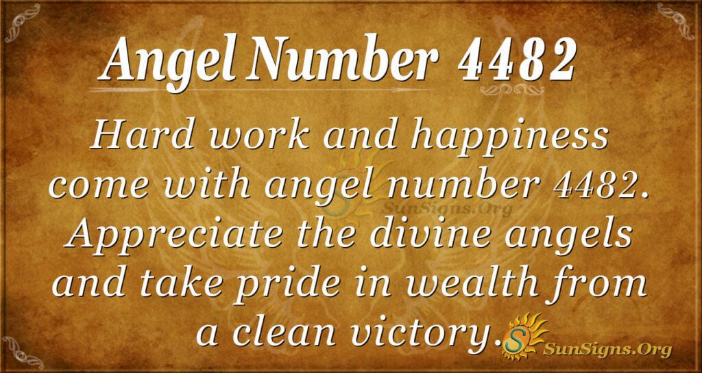 Angel Number 4482