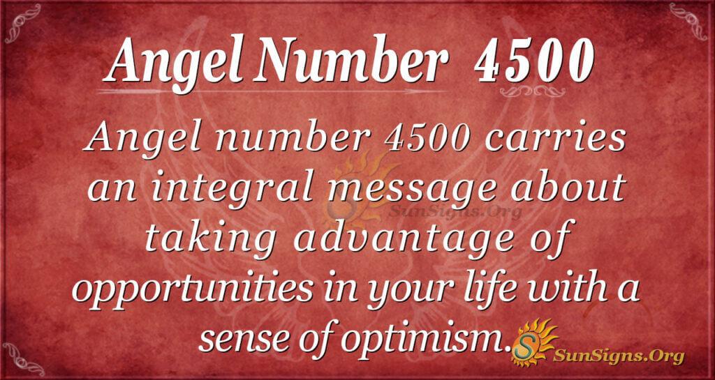 Angel Number 4500